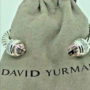 DAVID YURMAN MORGANITE AND DIAMOND 7mm BRACELET